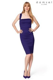 Damsel Purple Jasmine Bandage Dress