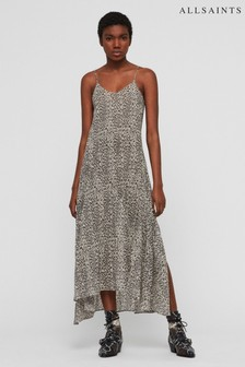 AllSaints Leopard Essie Beach Cover Dress