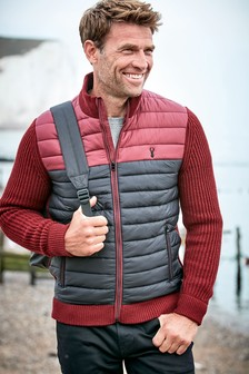Knitted Padded Funnel Jacket