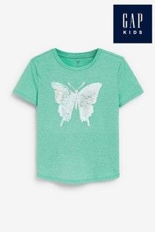 Gap Butterfly Flippy Sequin T-Shirt