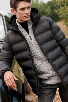 Shower Resistant Heatseal Hooded Coat