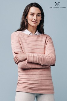 Crew Clothing Company Pink Salcombe Jumper