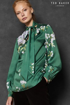 Ted Baker Green Floral Print Blouse