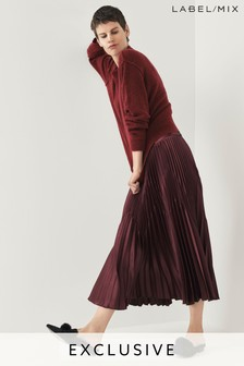 Next/Mix Pleat Midi Skirt