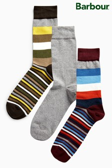 Barbour® Stripe Sock Three Pack Set