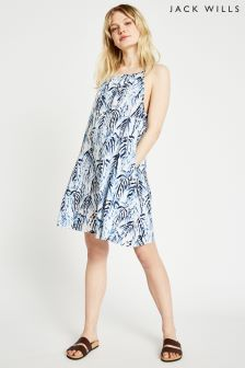 Jack Wills Blue Beddgel Halter Beach Dress