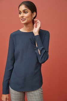Deep Cuff Long Sleeve Top