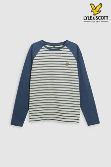 Lyle & Scott Raglan Stripe Long Sleeve T-Shirt
