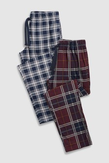 Check Cosy Long Bottoms Two Pack