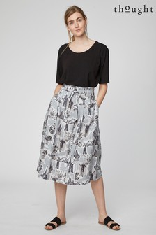 Thought Grey Lee Story Skirt