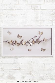 Artist Collection Large Lasercut Butterfly by Ian Winstanley Frame