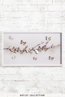 Cuadro grande de mariposas cortadas a láser de Ian Winstanley de Artist Collection