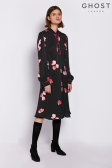 Ghost London Black Hallie Dress