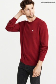Abercrombie & Fitch Red Crew Knit Jumper