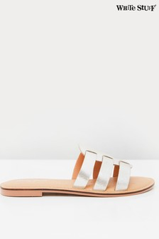White Stuff Cut Out Leather Sliders