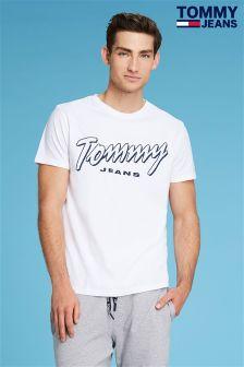 Tommy Jeans White Summer Script T-Shirt