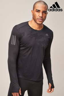 adidas Run Black Response Long Sleeved Tee