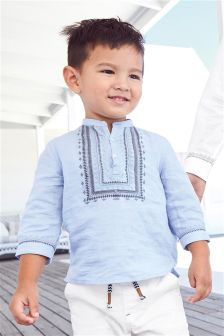 Embroidered Kaftan Shirt (3mths-6yrs)