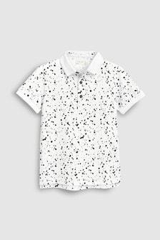Рубашка поло с рисунком брызг (3-16 лет)