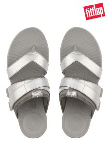 FitFlop™ Soft Grey/Silver Neoflex™ Toe Post Sandal