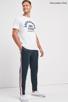 Abercrombie & Fitch Navy Taped Jogger