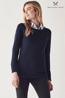 Crew Clothing Company Blue Salcombe Jumper