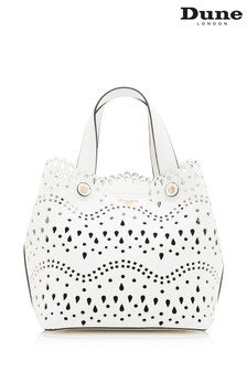 Dune Accessories White Medium Laser Cut Tote Bag