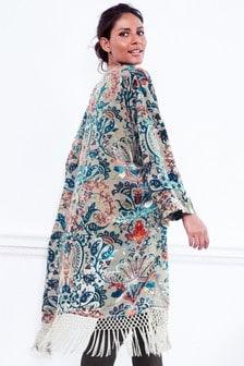 Burnout Fringe Kimono