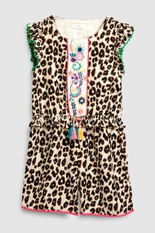 Leopard Print Playsuit (3-16yrs)