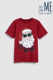 Рождественская футболка с надписью «Yo Ho Ho» (3-16 лет)