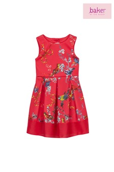 baker by Ted Baker Younger Girls Raspberry Scuba Dress