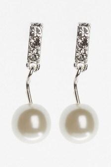 Pearl Effect Drop Earrings