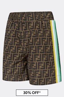 Fendi Kids Kids Brown Shorts
