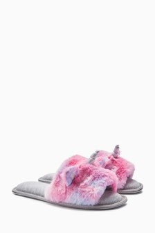 Unicorn Faux Fur Sliders