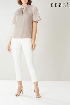 Coast Grey Aria High Neck Top
