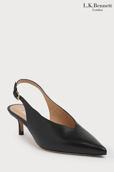 L.K.Bennett Black Livia Court Shoe