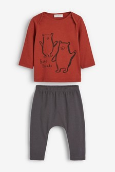 Bear T-Shirt And Leggings Set (0mths-2yrs)