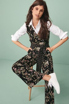 Print Mix Jumpsuit