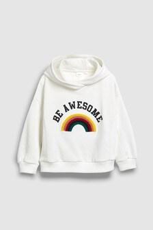 Rainbow Bouclé Hoody (3-16yrs)