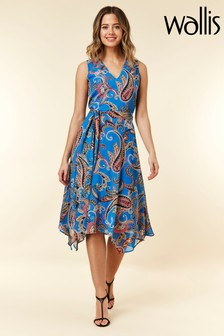 Wallis Cobalt Paisley Dress