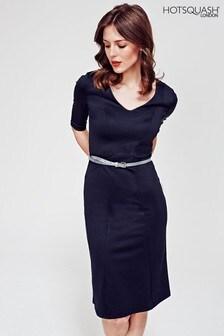 HotSquash Black Victoria Ponte Dress