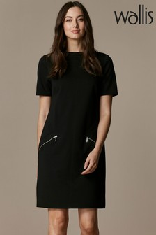 Wallis High Neck Ponte Shift Dress