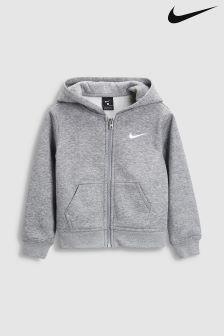 Sweat à capuche Nike Club gris zippé