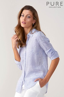 Pure Collection Relaxed Washed Silk Blouse