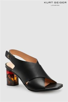 Kurt Geiger London Black Leather Stride Sandal