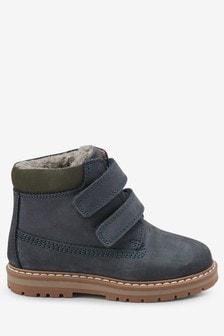 Кожаные рабочие ботинки с двумя ремешками (Младшего возраста)