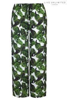 Live Unlimited Banana Leaf Wide Leg Trouser