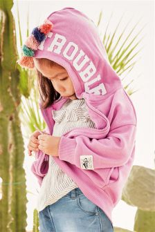 Tassel Zip Through Hoody (3mths-6yrs)