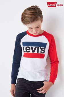 Levi's® Kids Colourblock Long Sleeve T-Shirt