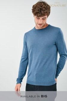 Джемпер из шерсти мериноса с круглым вырезом горловины